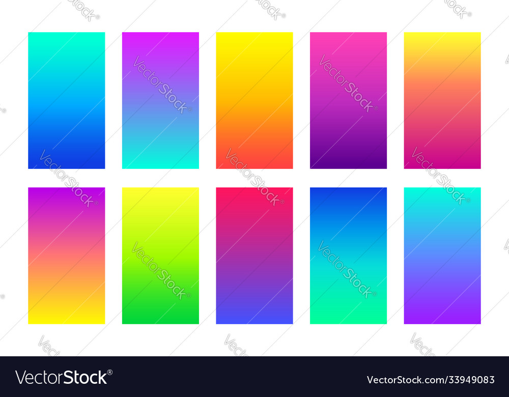 Gradient colorful backgrounds abstract