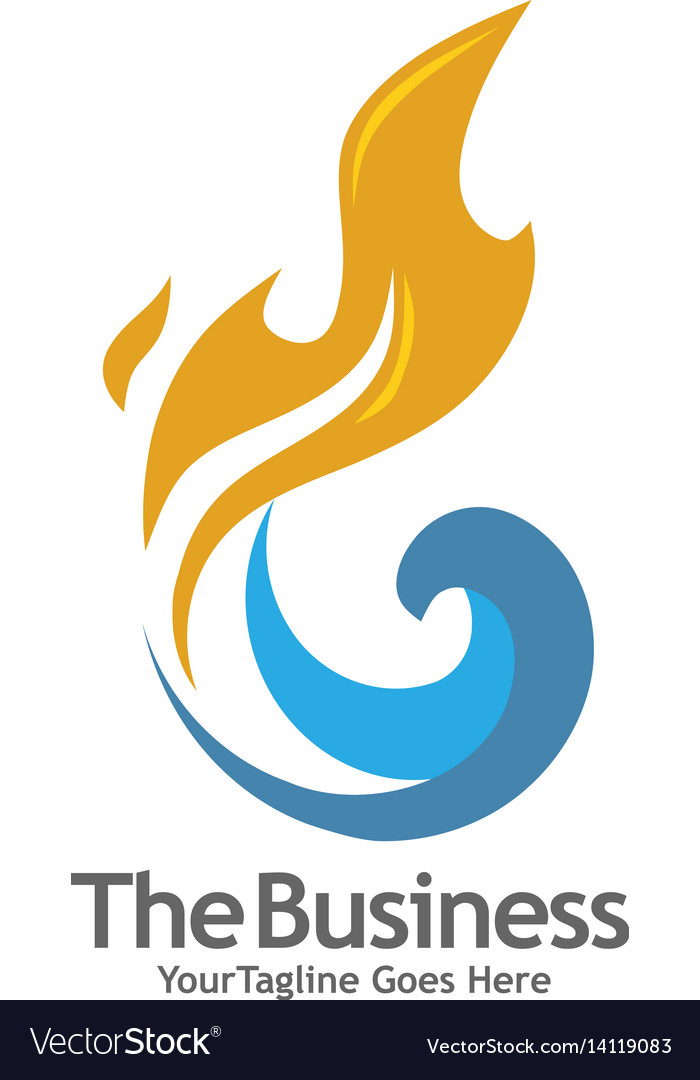Oil gas energy and fire concept logo