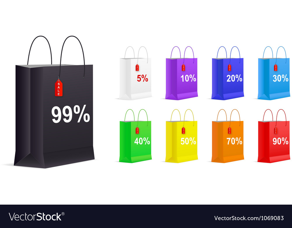 Set of Empty Shopping Bags