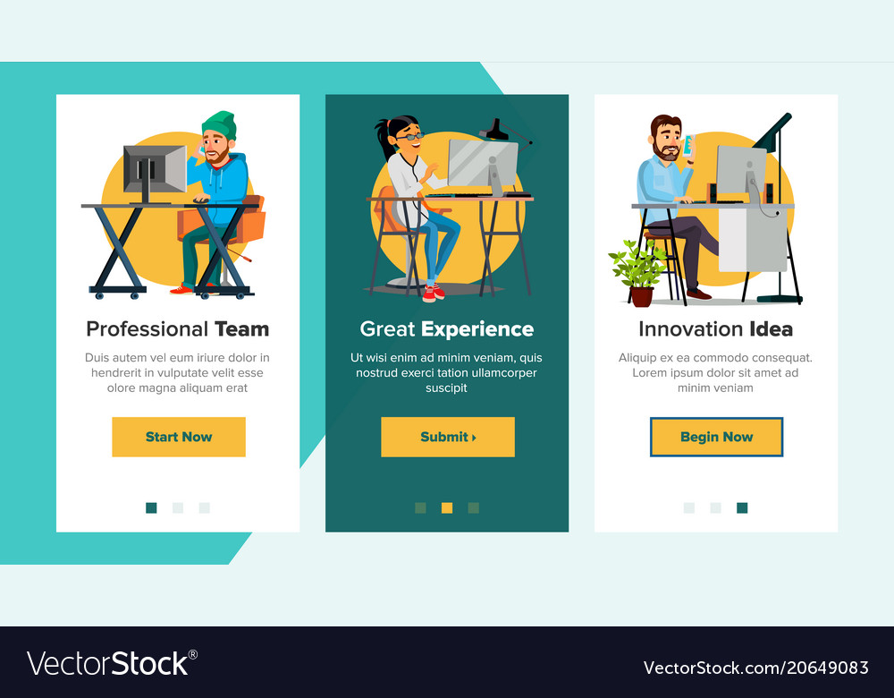 website banners business website royalty free vector image