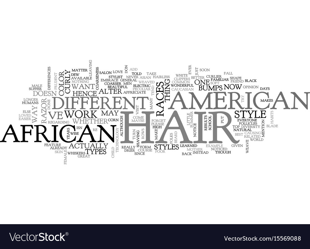African american hair text word cloud concept
