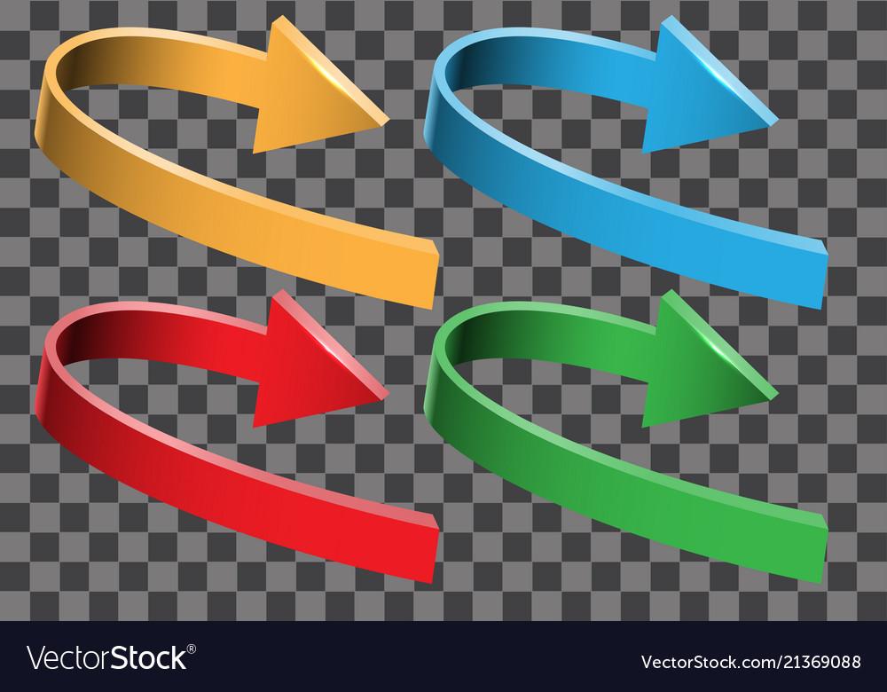Arrow color 3d curve direction set collection