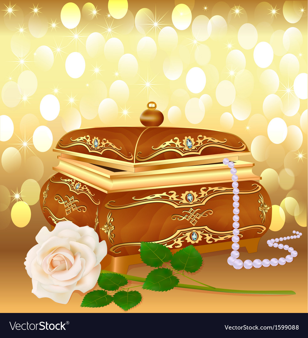 Background casket with pearls