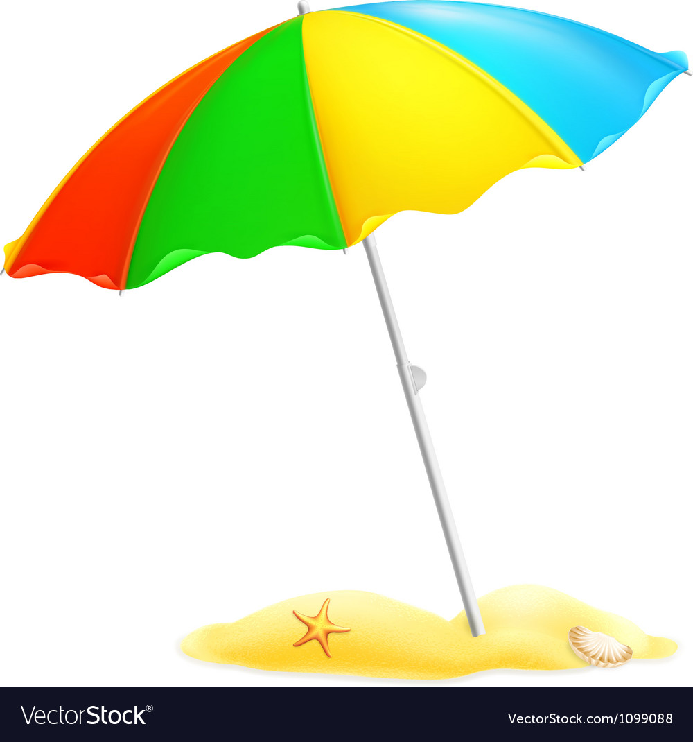 beach parasol royalty free vector image vectorstock beach umbrella clip art images beach umbrella clip art black n white