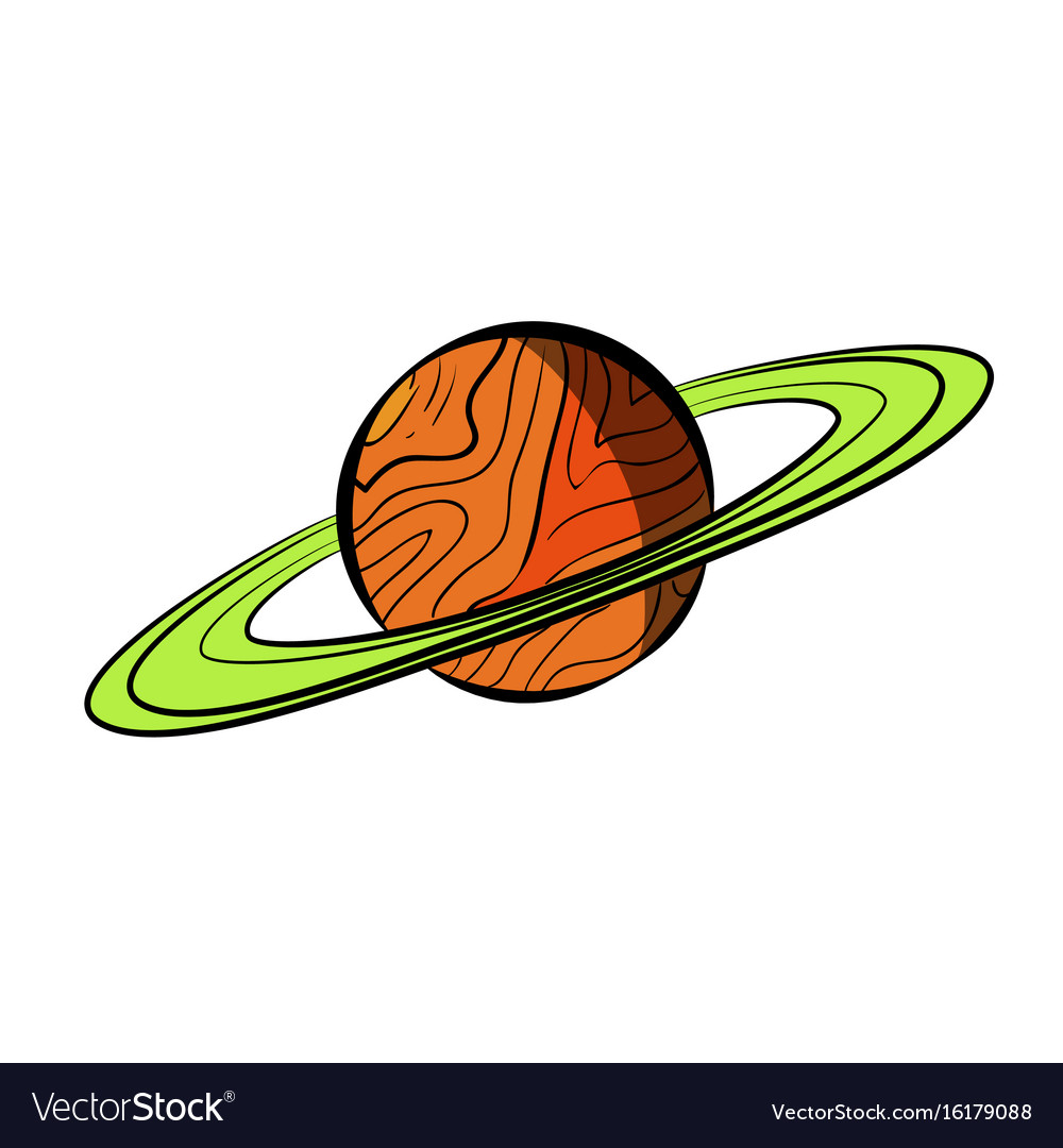 Color sketch saturn vector image