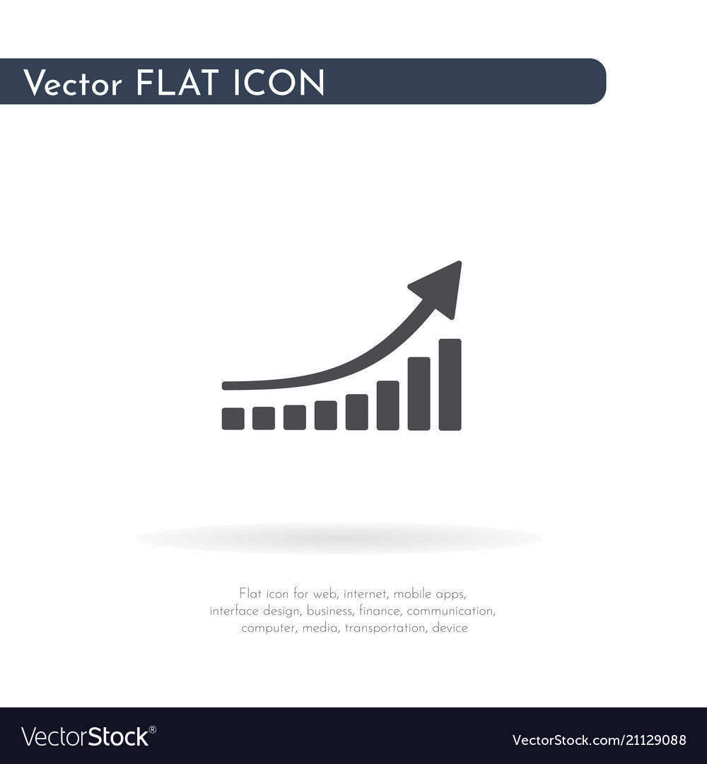 Graph icon for web business finance and