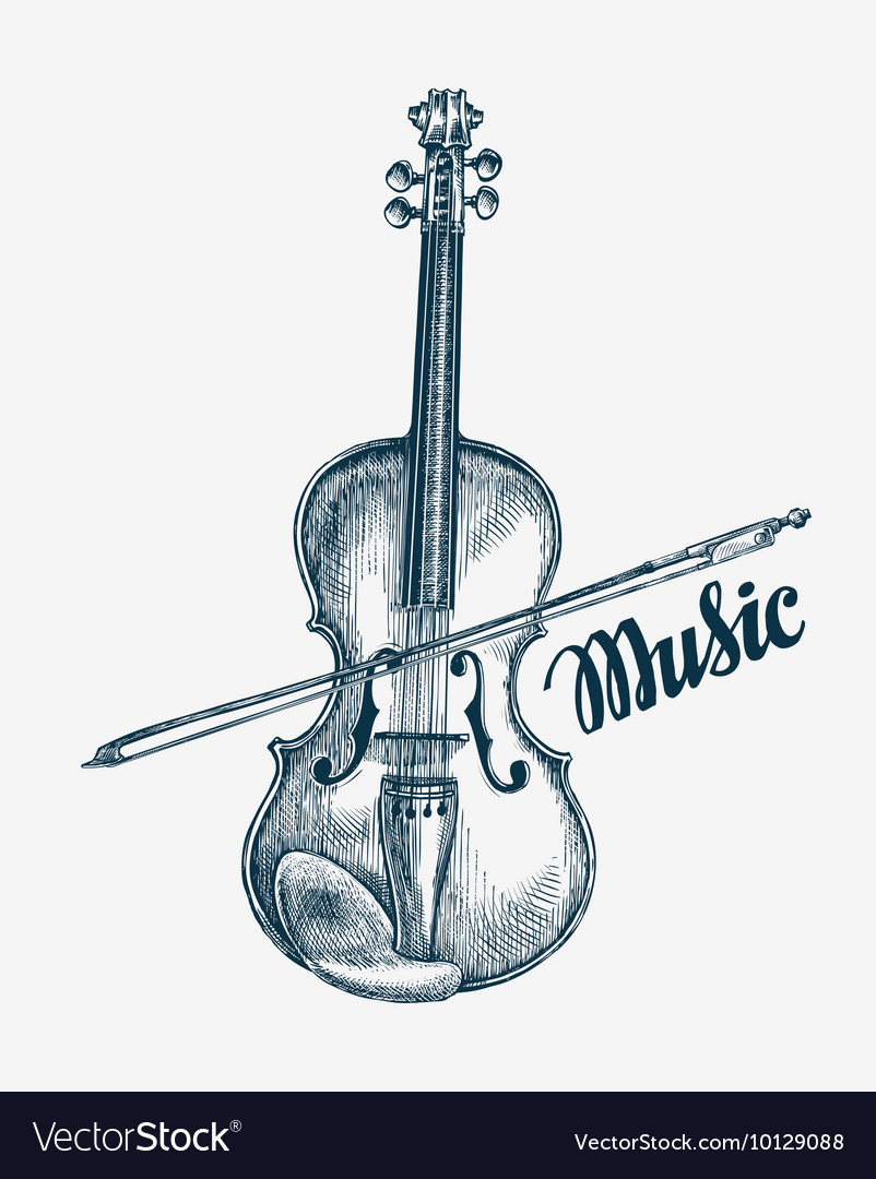 Hand drawn violin Sketch