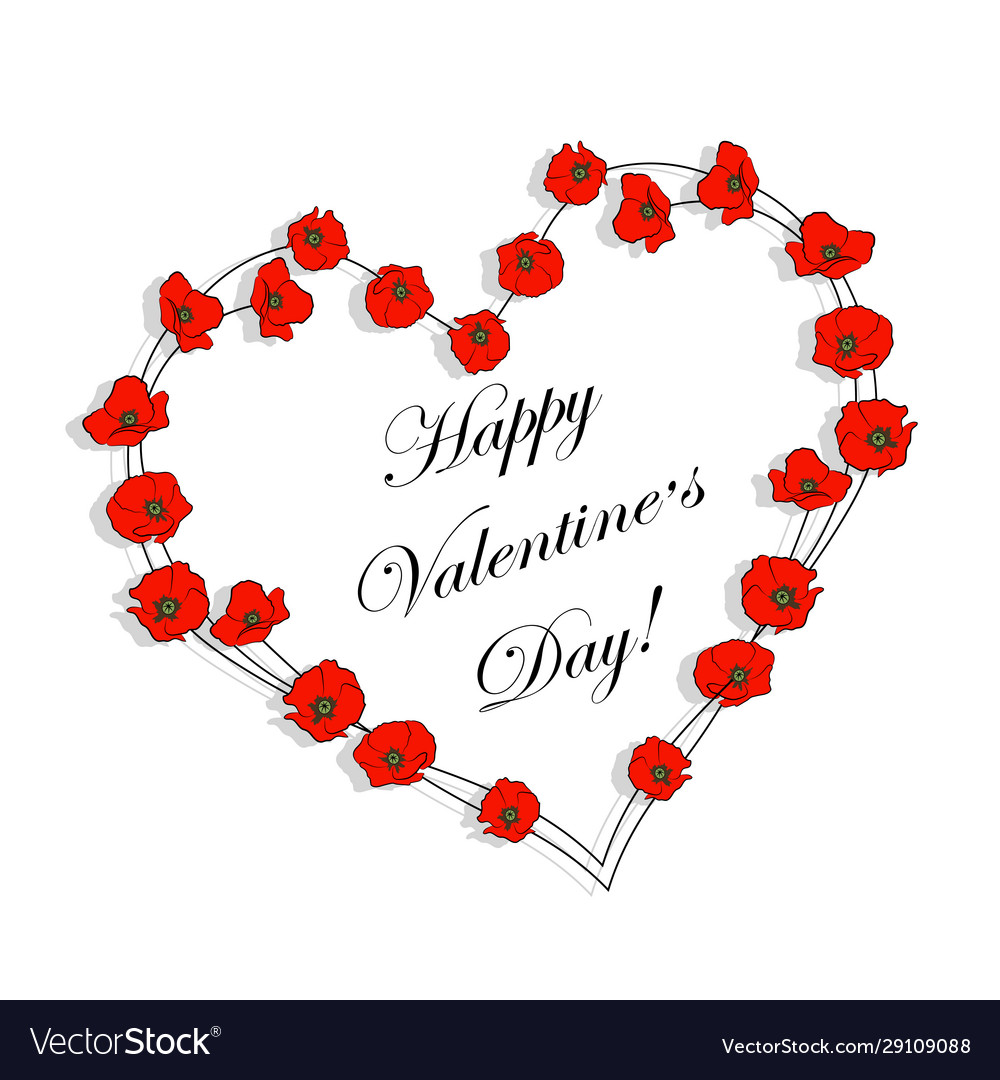 Happy valentines day greeting card beautiful