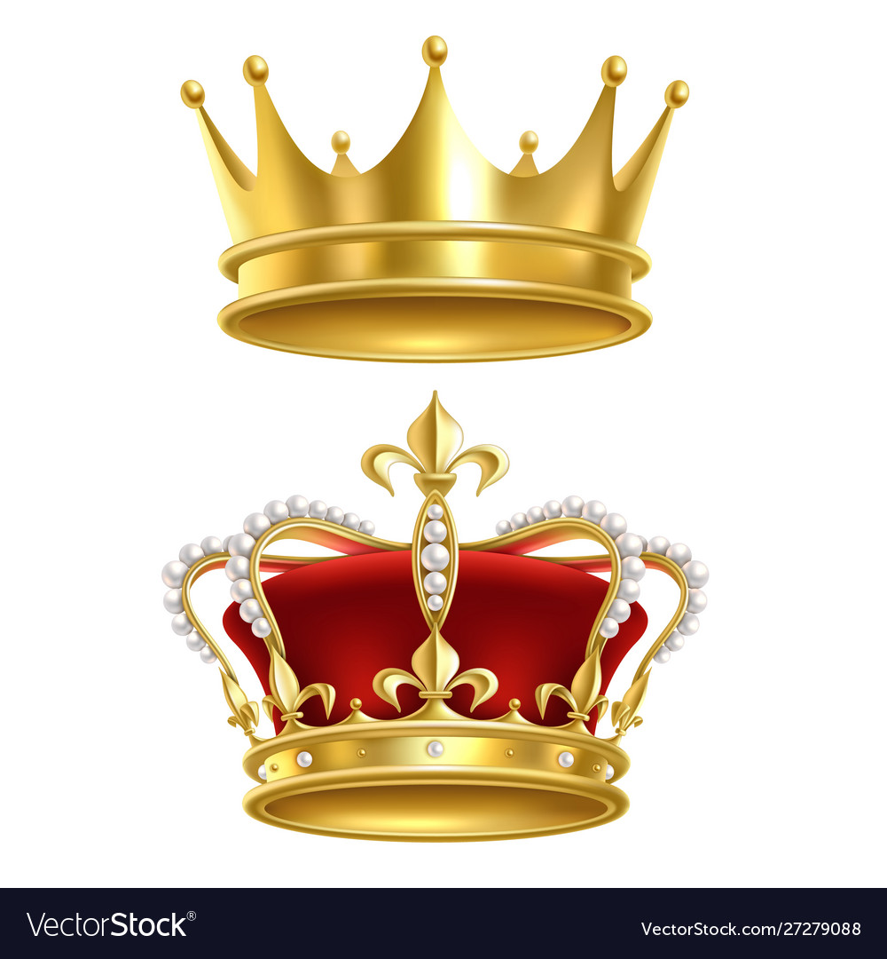 Real royal crown imperial gold luxury monarchy