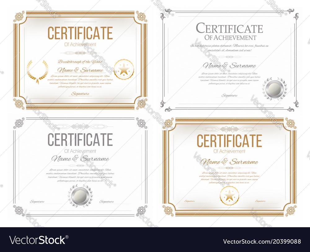 Set certificates appreciation award
