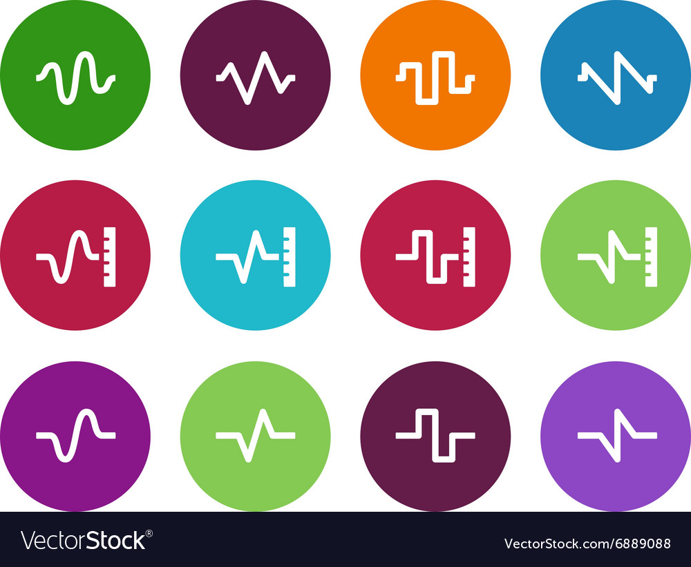 Sound circle icons on white background vector image