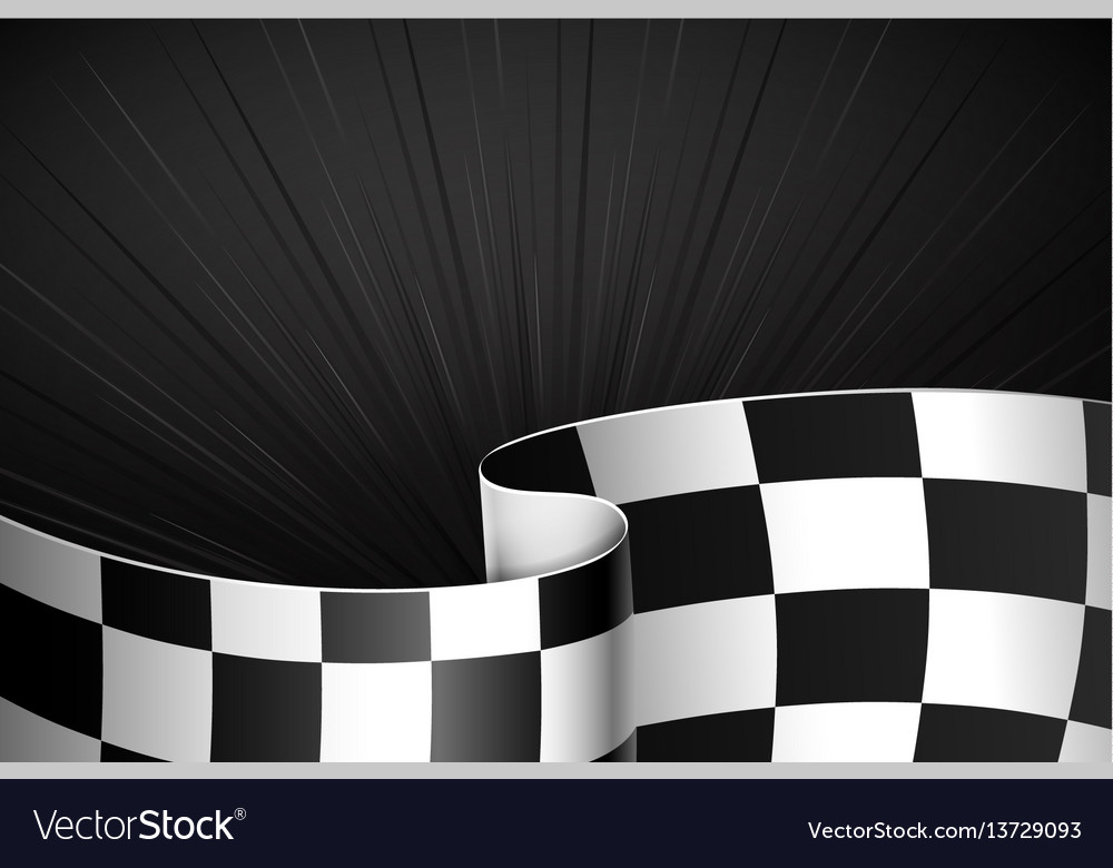 Black racing background vector image