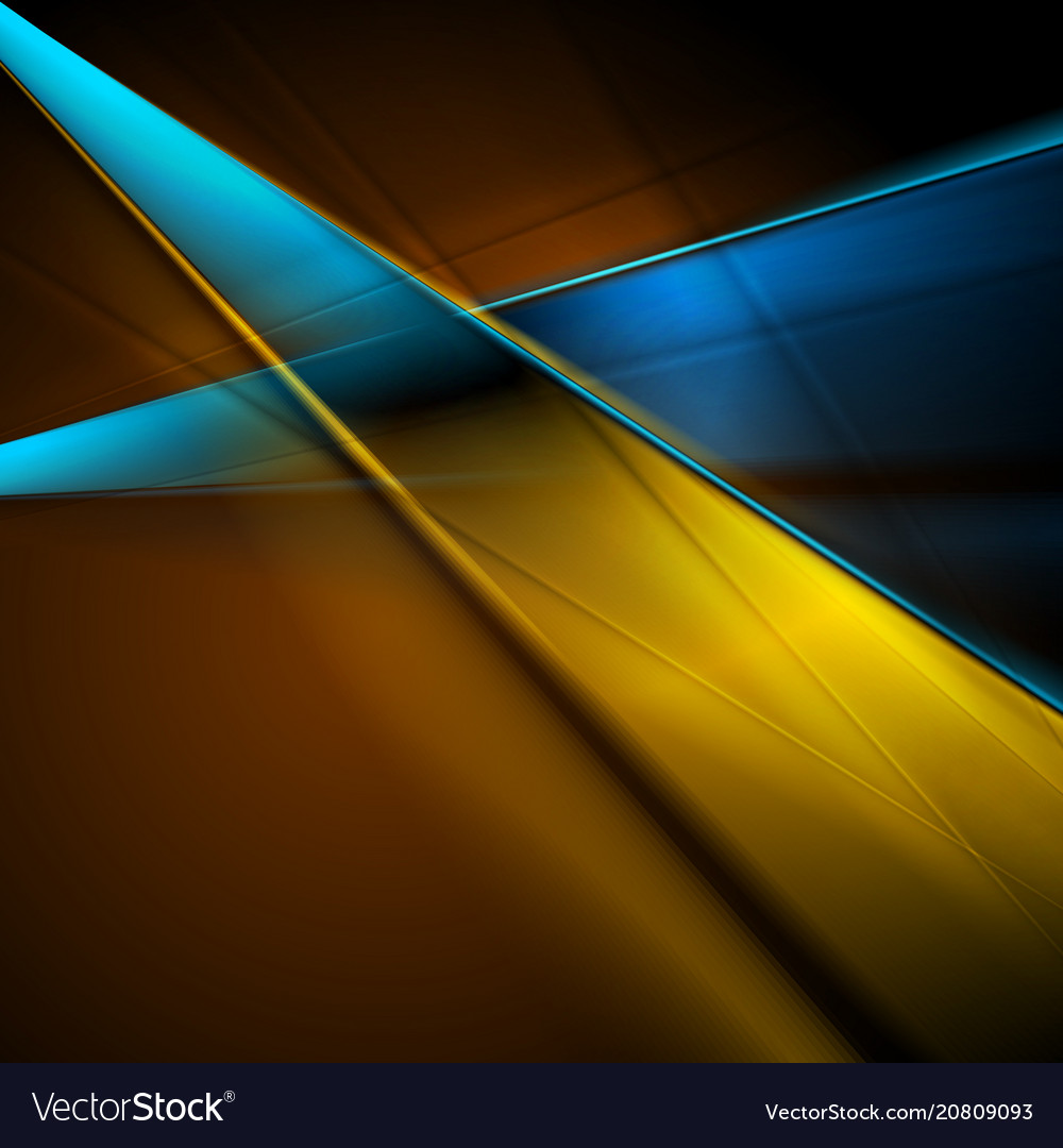 Bright blue orange abstract smooth stripes vector image