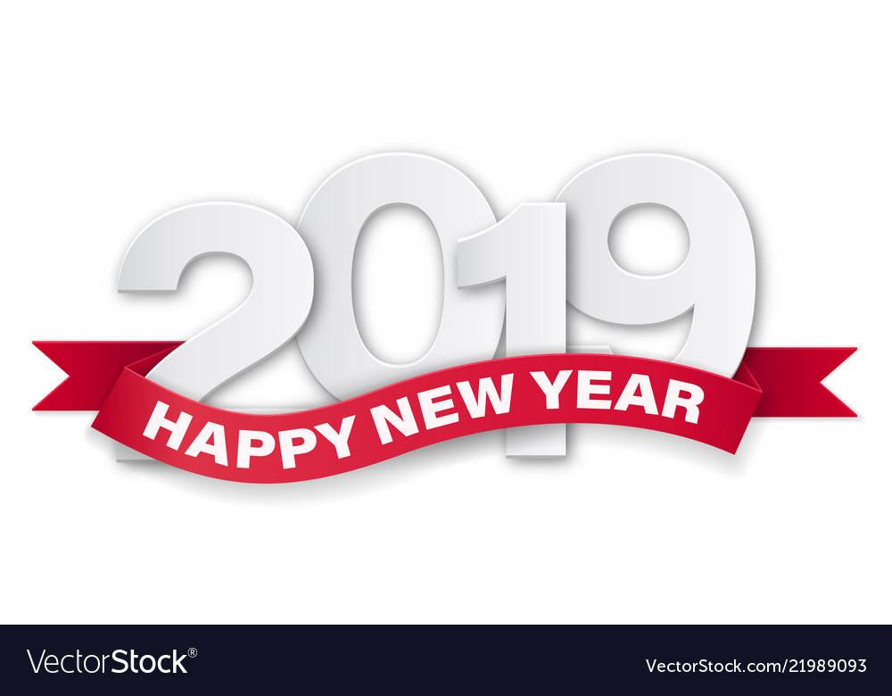 Paper numbers happy new year 2019