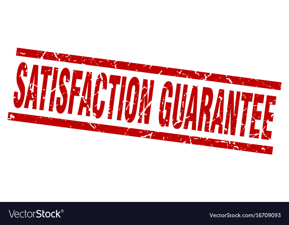 Square grunge red satisfaction guarantee stamp vector image on VectorStock