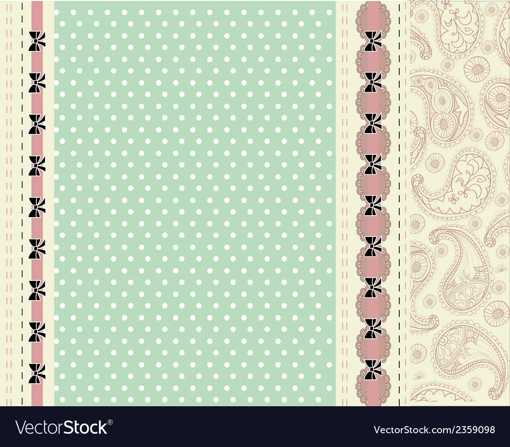 Blue card with floral pattern vector image