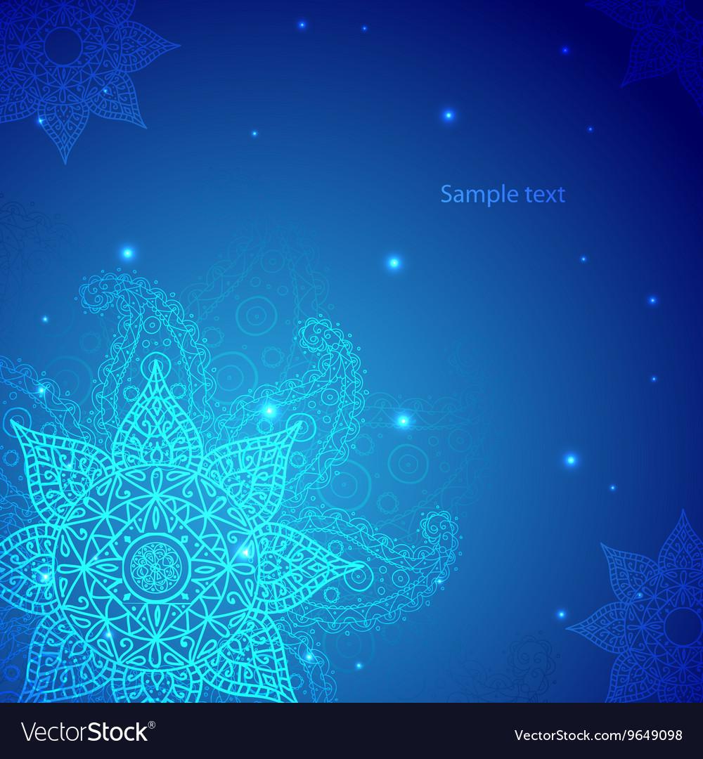 Blue Indian Vintage Ornament