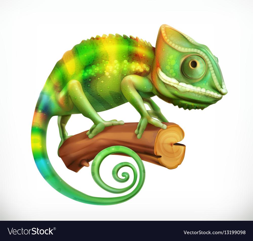 Chameleon 3d icon