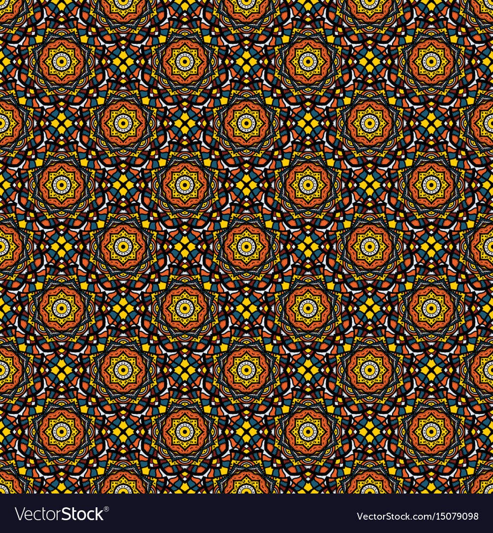 Colorful mosaic seamless pattern background vector image