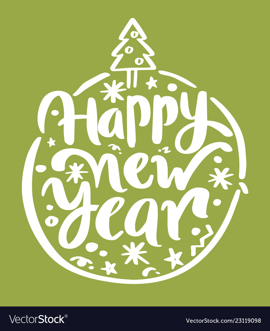 Happy New Year Lettering Design 25
