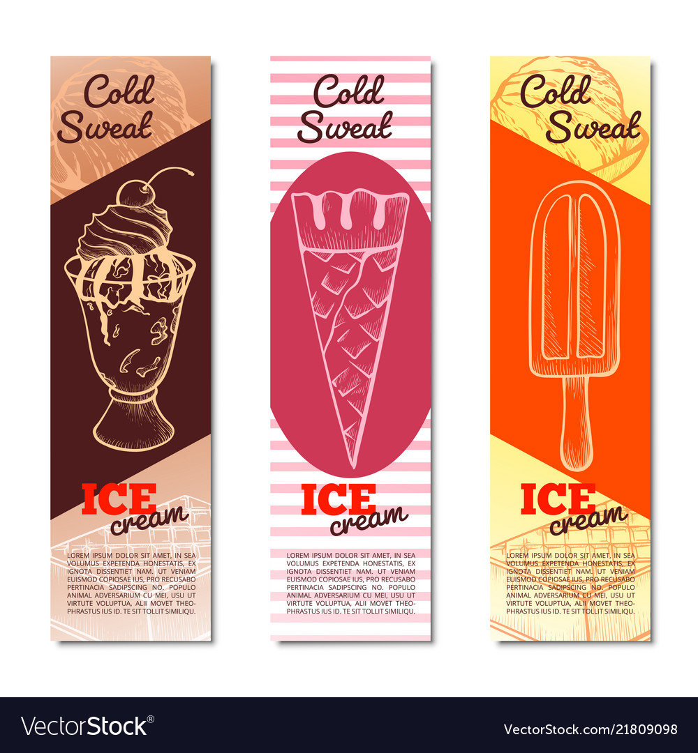 Ice cream vertical banner with copy space