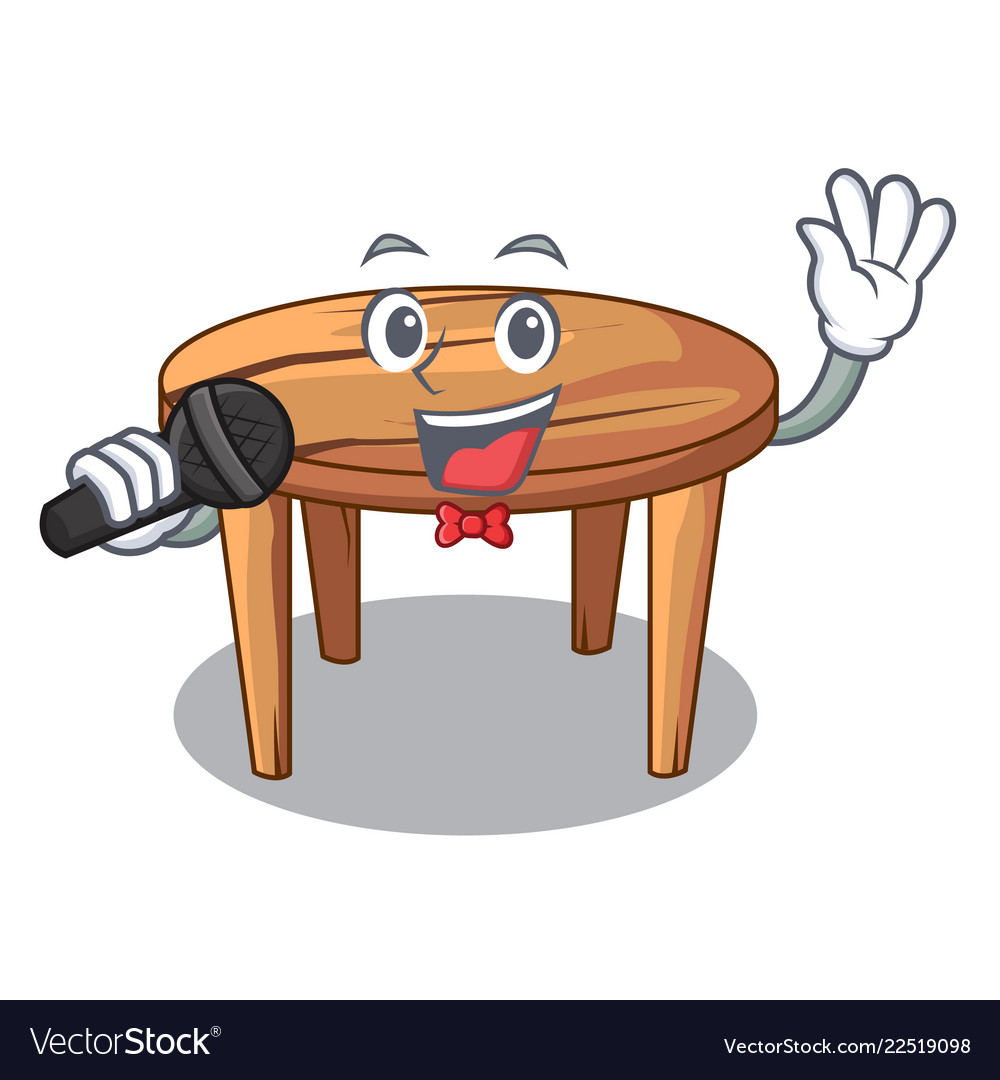 Singing Cartoon Wooden Dining Table In Kitchen