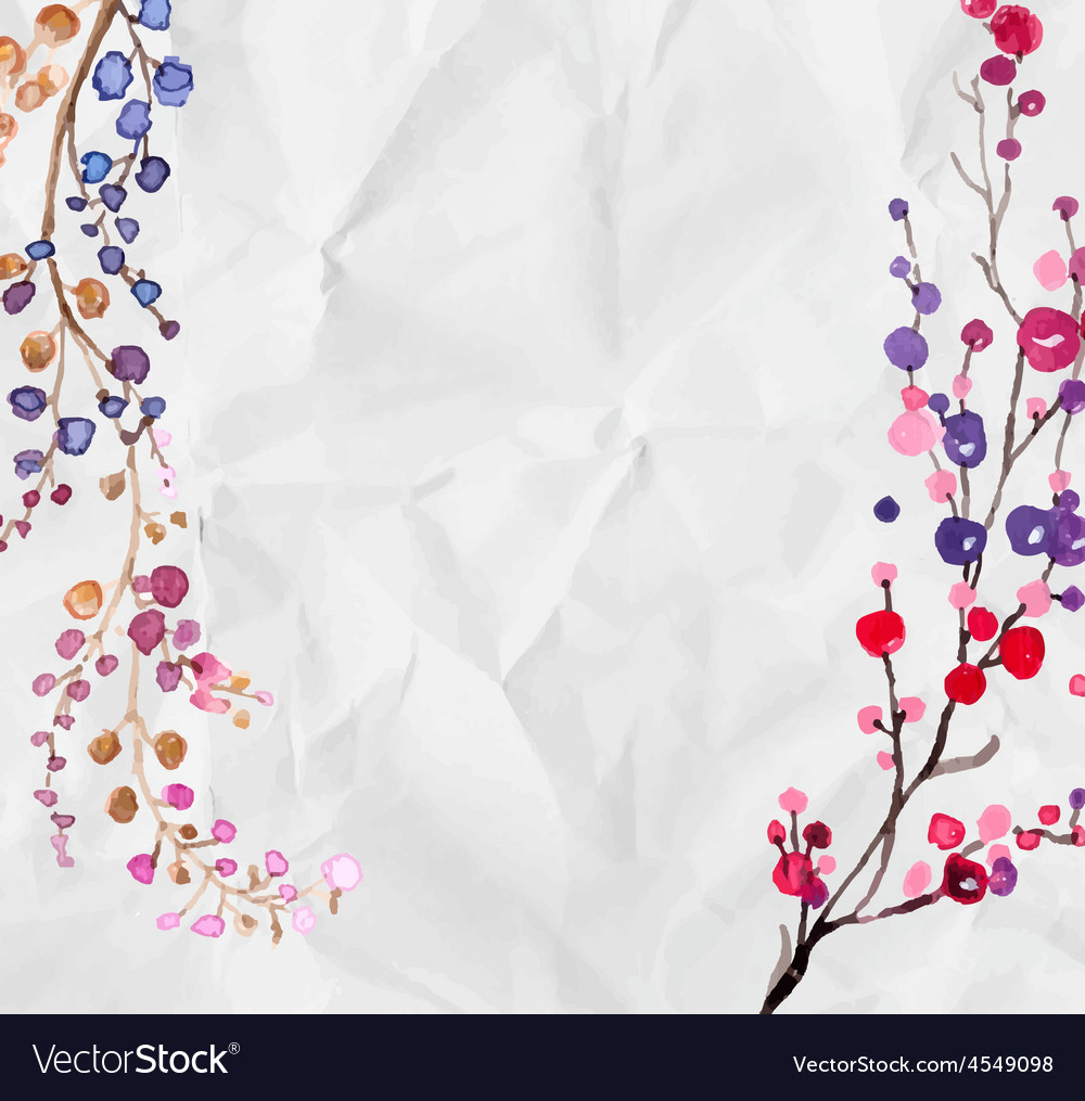 Watercolor Flowers Background Royalty Free Vector Image