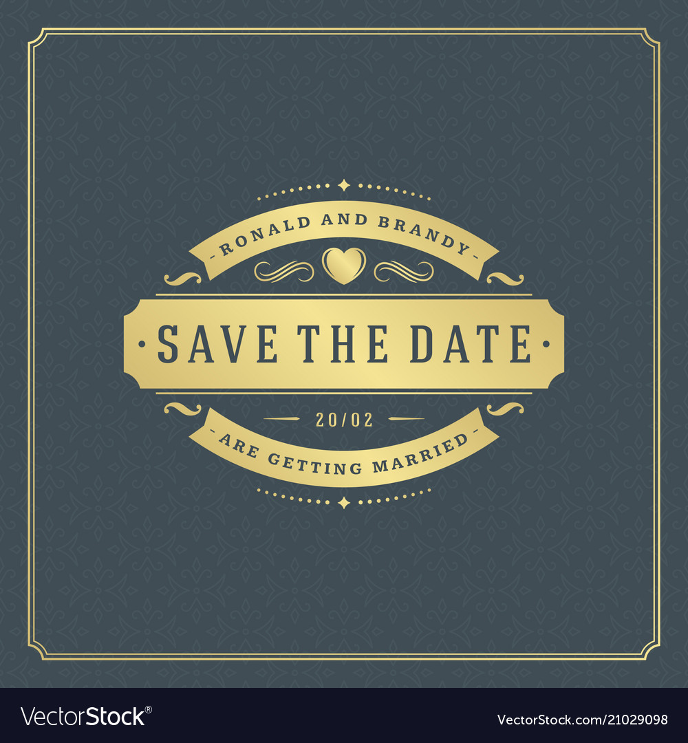 Wedding save the date invitation card