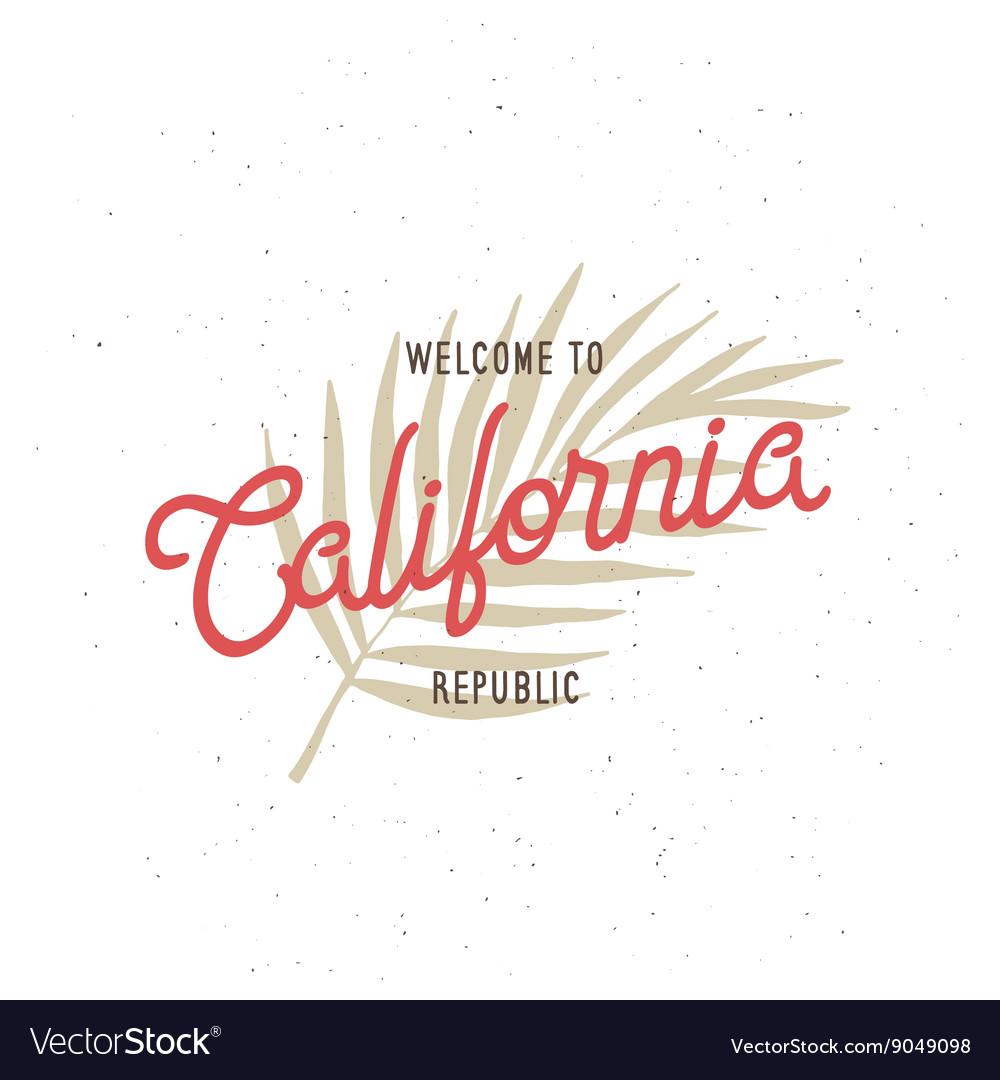 Welcome to California republic t-shirt