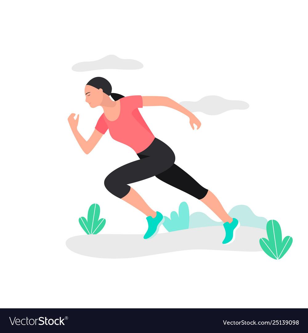 Young woman jogging marathon racer running