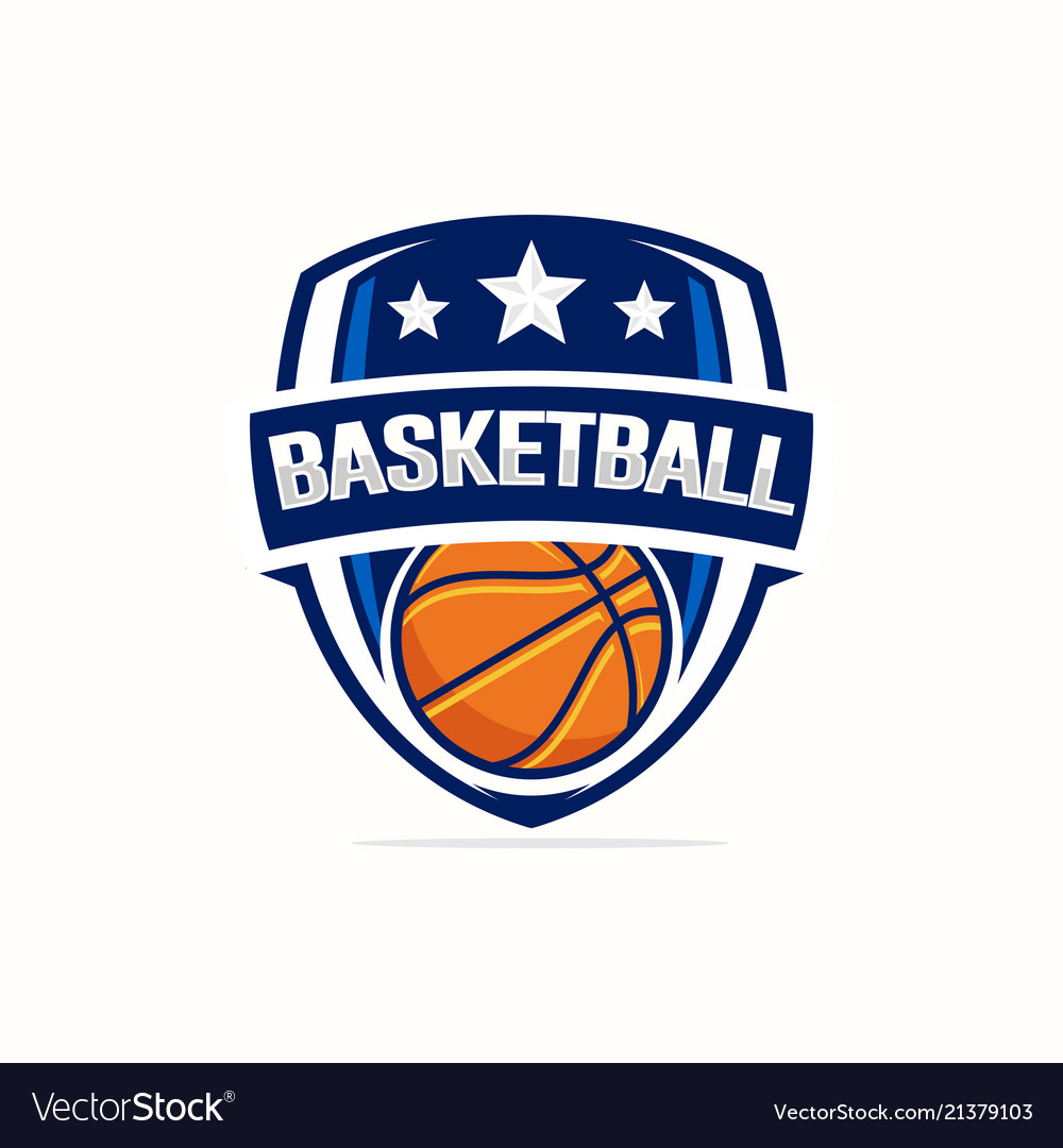 basketball logo template royalty free vector image