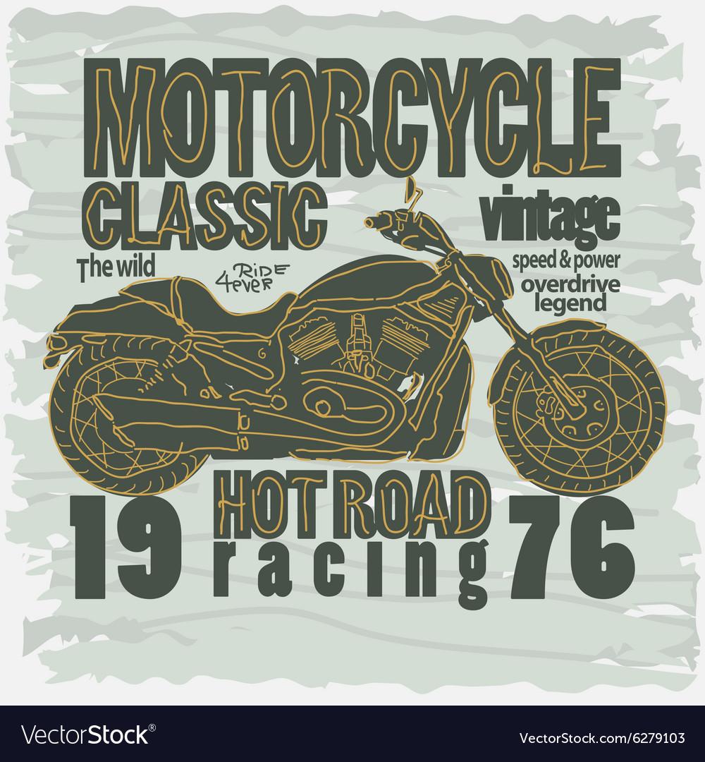 Motorcycle racing t-shirt