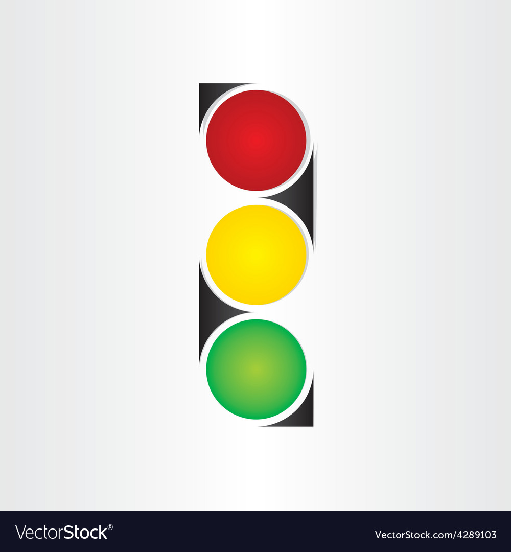 Semaphore abstract traffic sign symbol