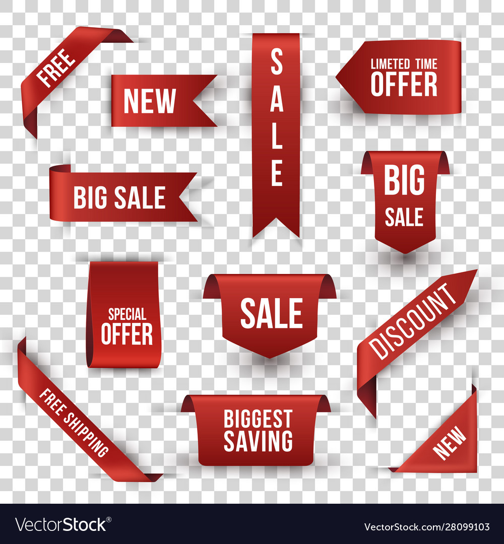 Shopping sales and discounts promotional labels