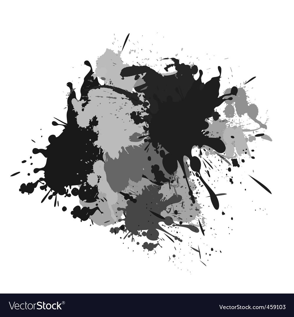 Splash black white and grey