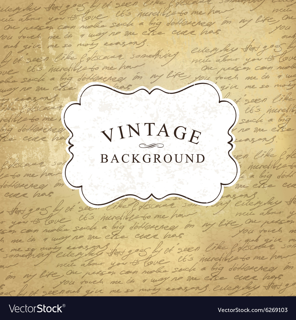 Vintage background with script pattern