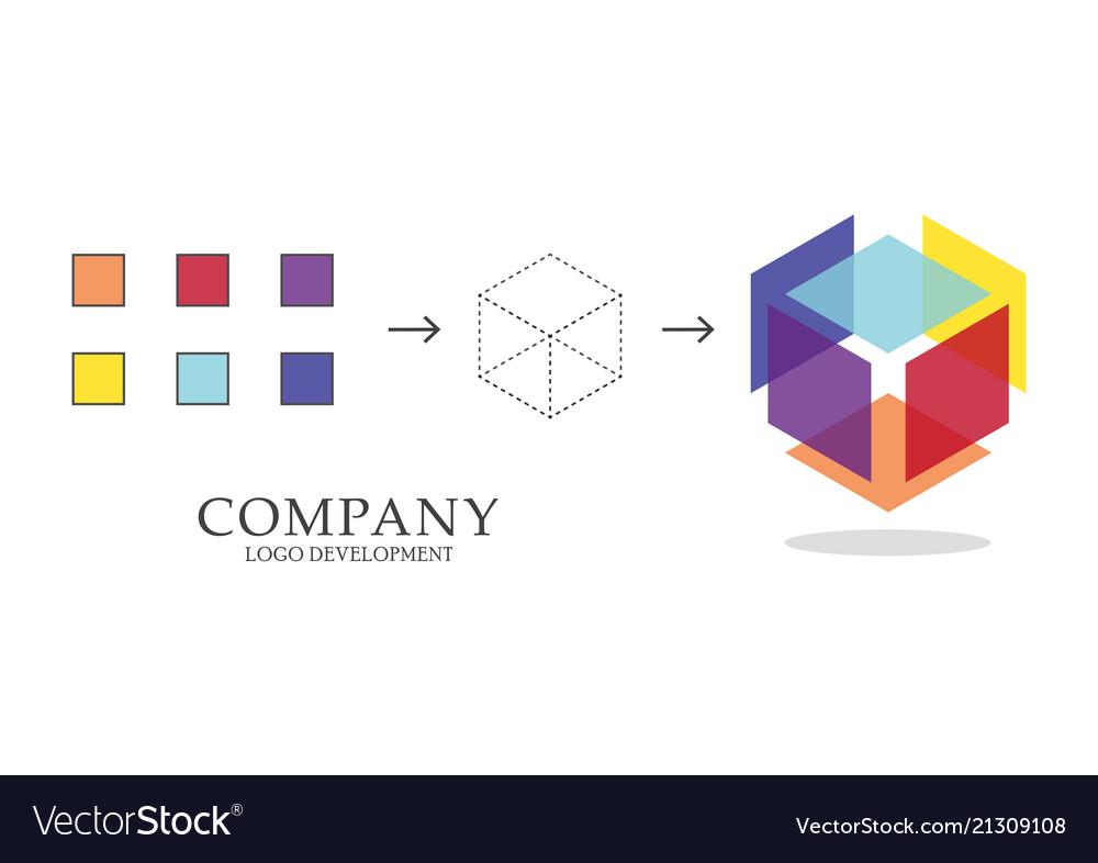Abstract geometric logo development