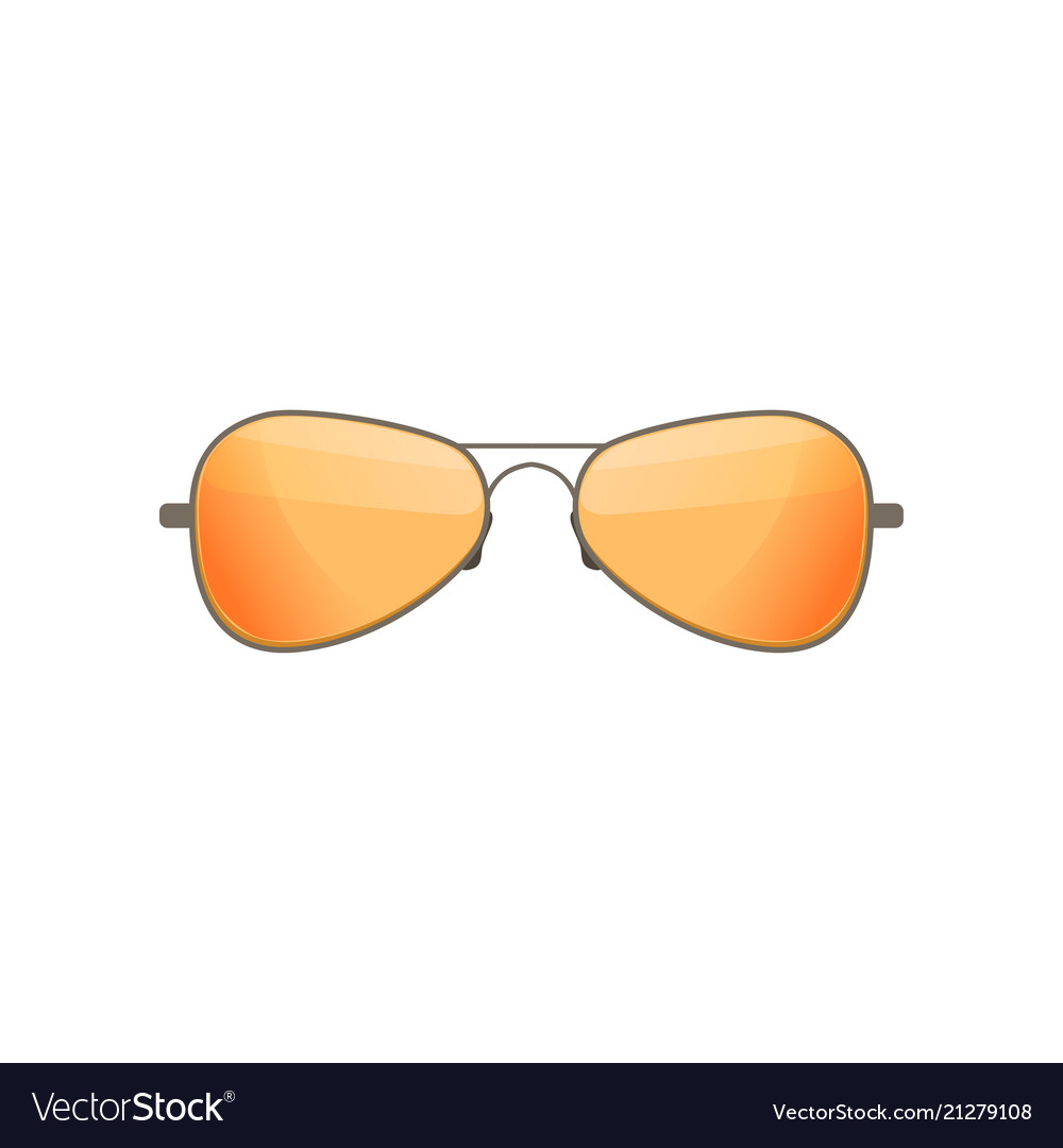 80e438b01bd2c Aviator sunglasses with tinted orange lenses Vector Image