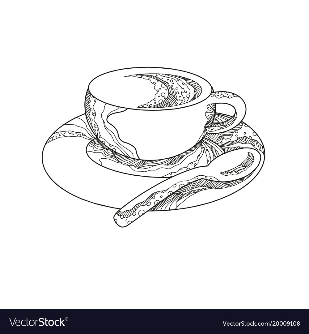 Cup of coffee doodle