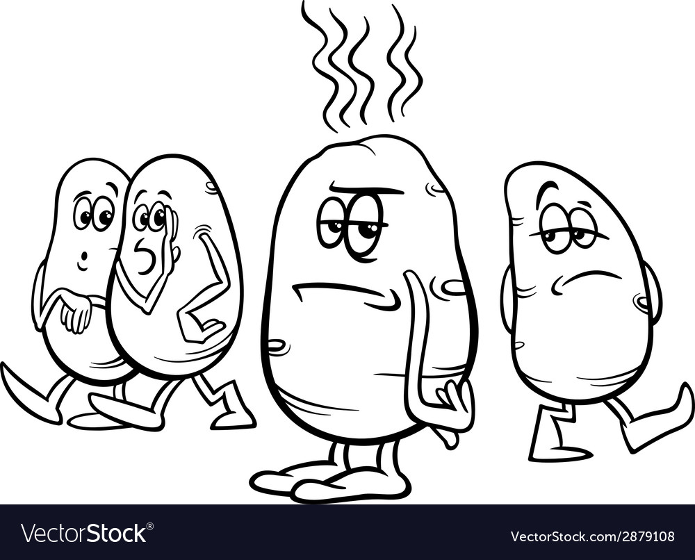 Hot potato saying coloring page vector image