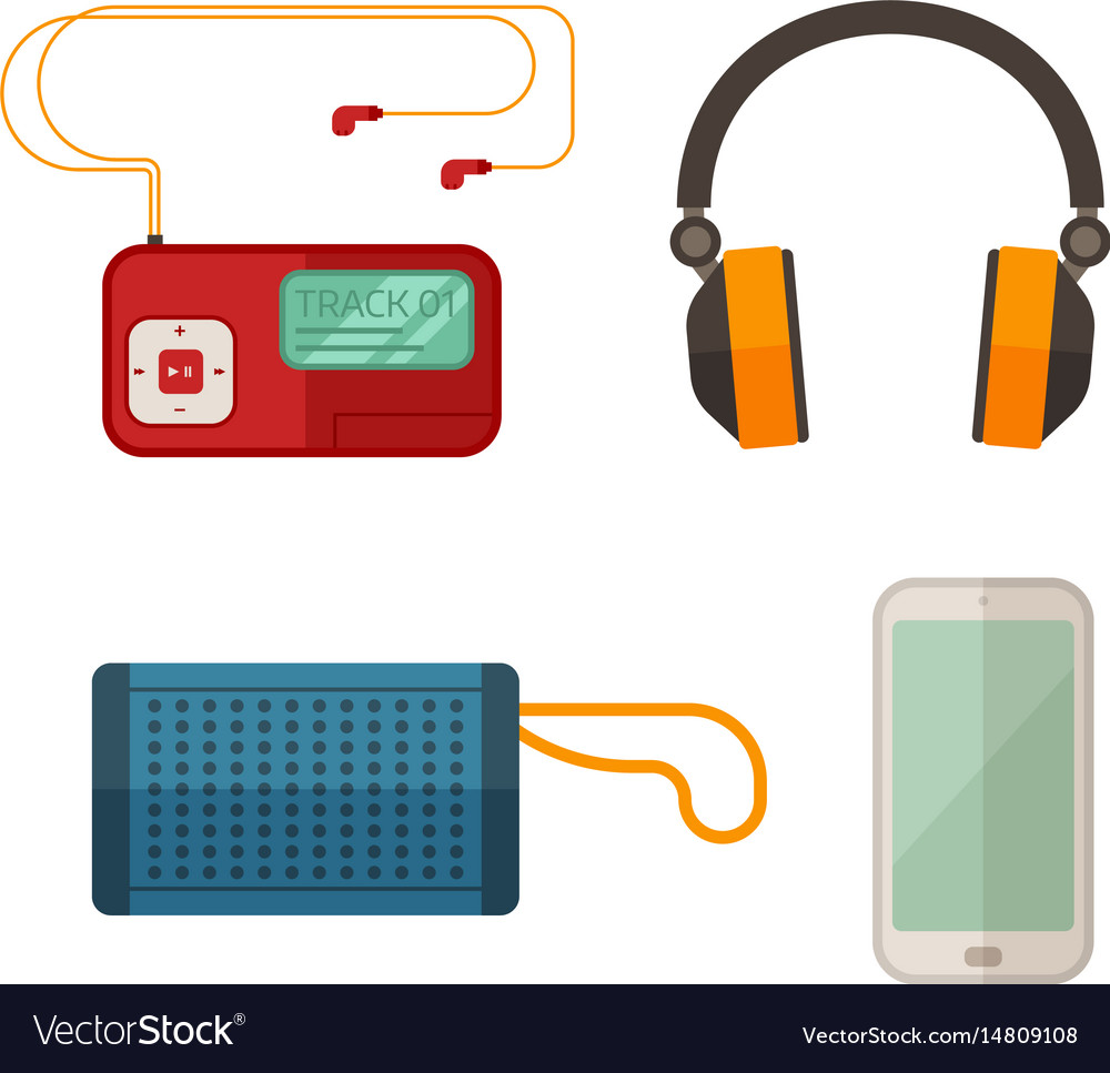 Listen to music devices vector image