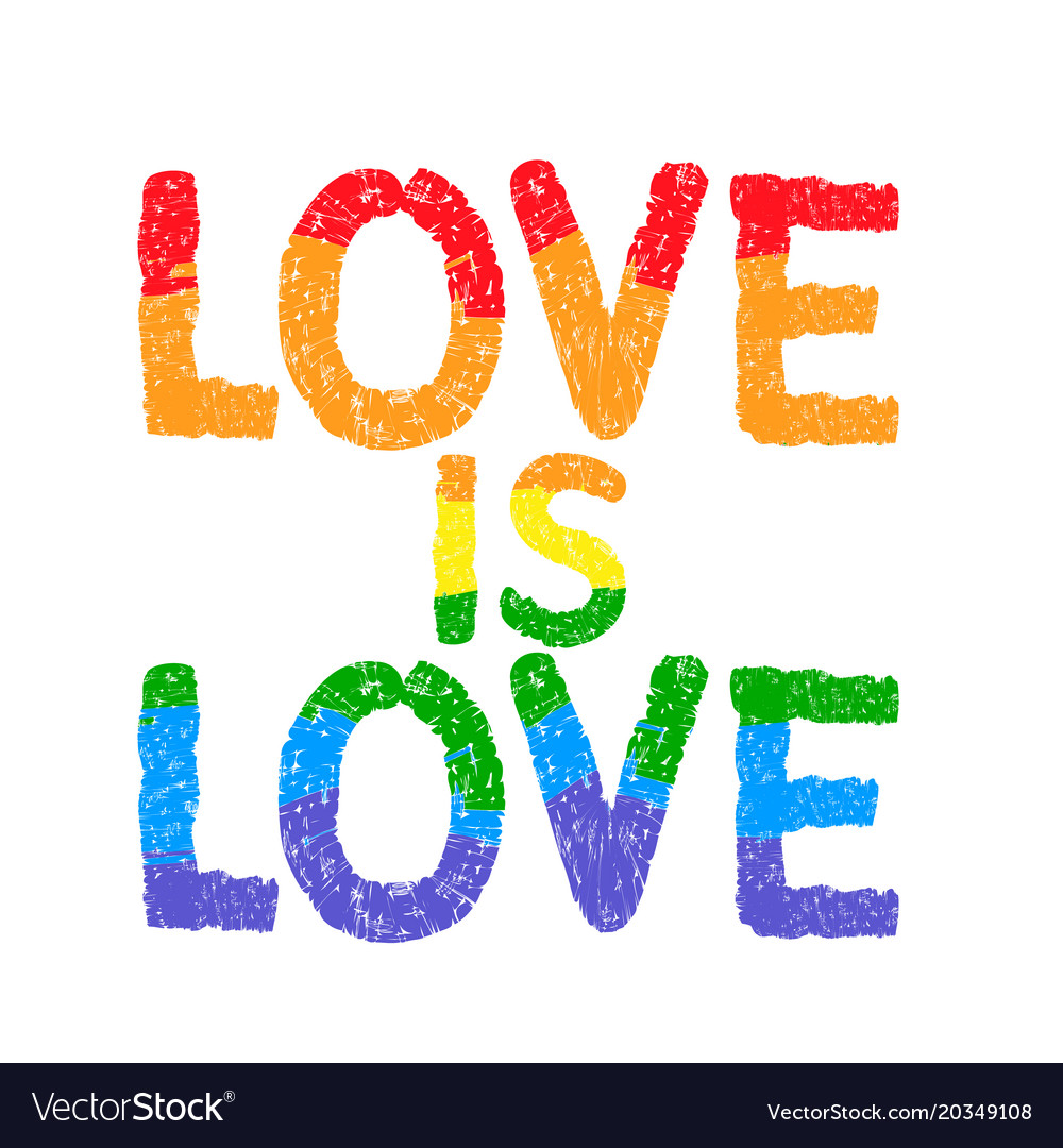 Love is love inspirational gay pride poster