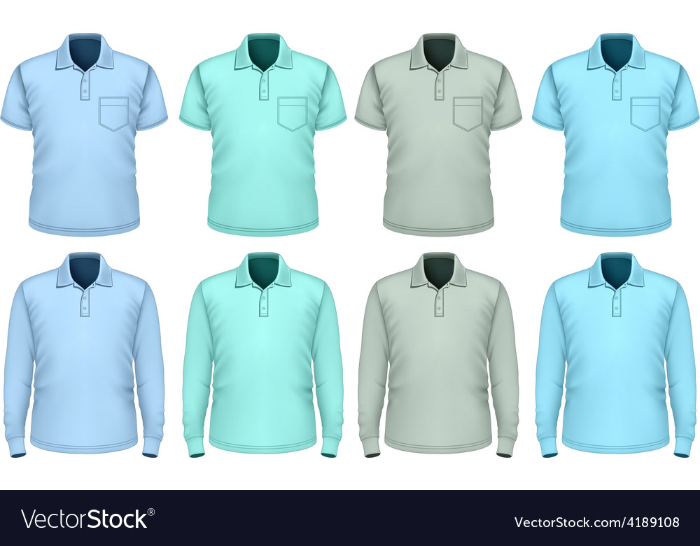Men polo-shirt Shades of blue