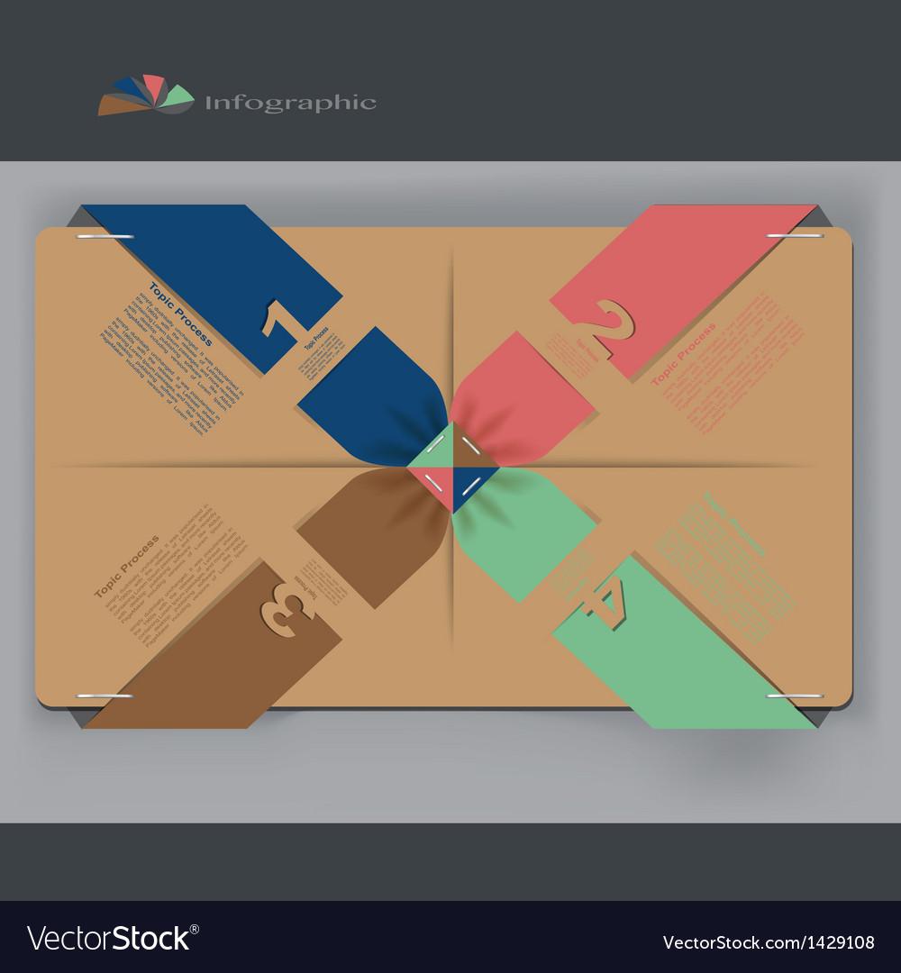 Modern Design template infographics vector image