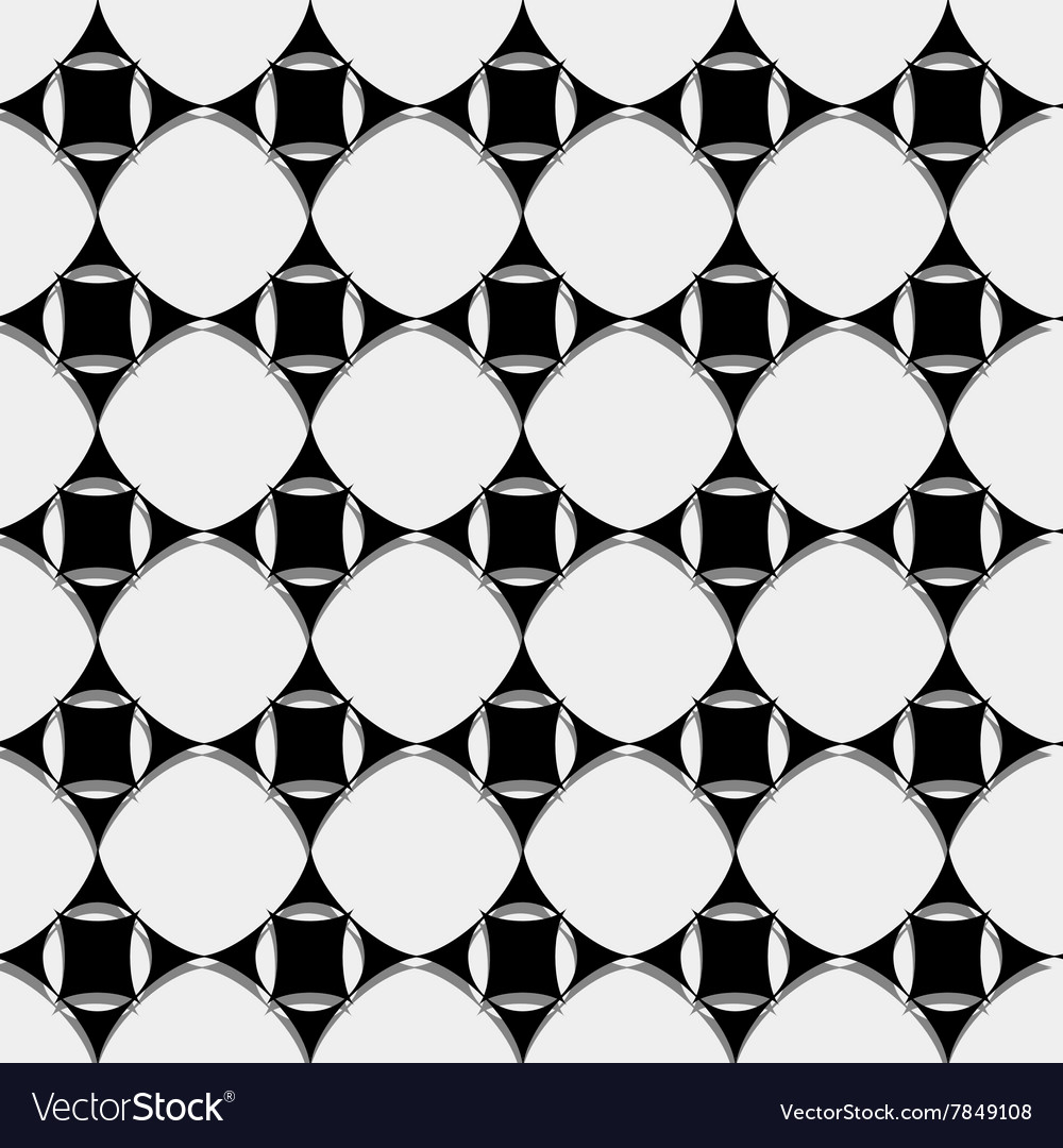Seamless pattern black and white geometric