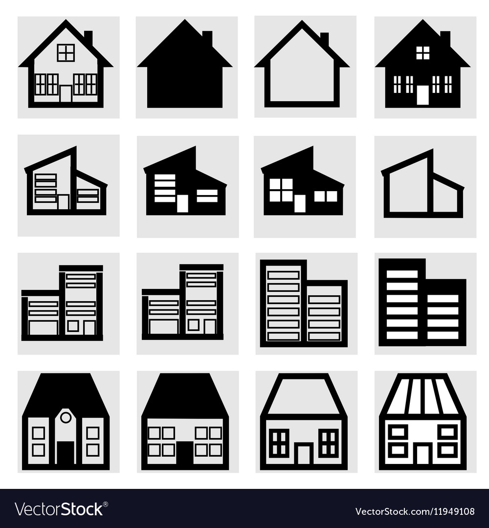 Set of icons of houses