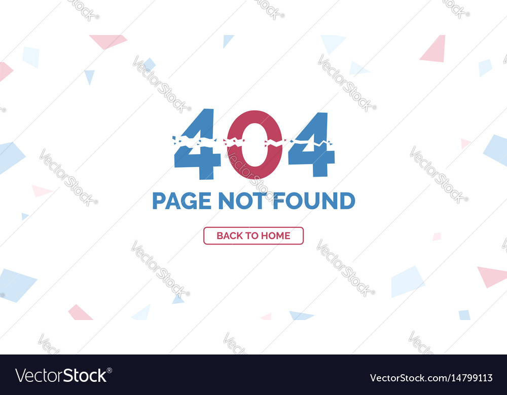 404 error page not found with return home button
