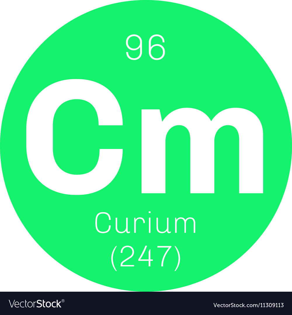 Curium Chemical Element Royalty Free Vector Image