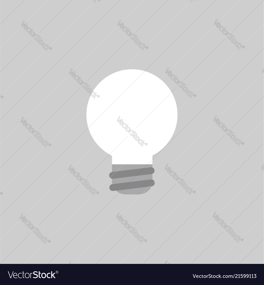 Icon concept of light bulb on grey background