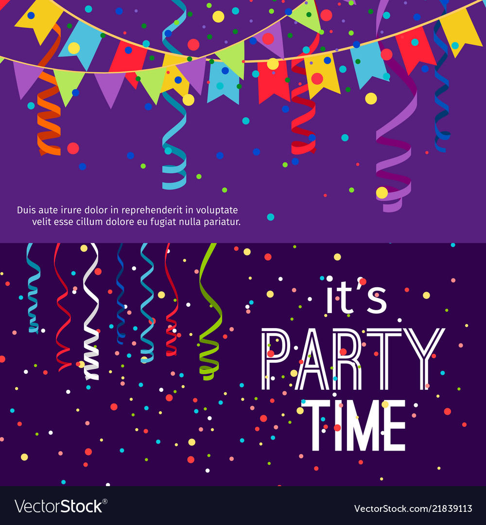 New year and christmas party banners set